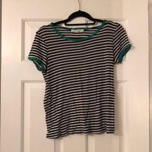 Urban Outfitters striped shirt with green trim